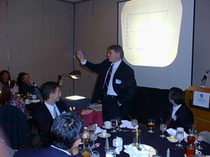 Garter Group's Ray Bender makes a point during his recent AITP presentation